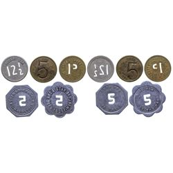 Red Lodge Cut Number Tokens