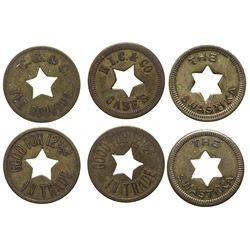 Roundup, Montana Star Cut-Out Tokens
