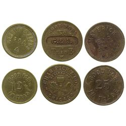 3 Mineral County, Montana Tokens