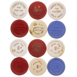 Belt and Big Sandy Gaming Chip Tokens
