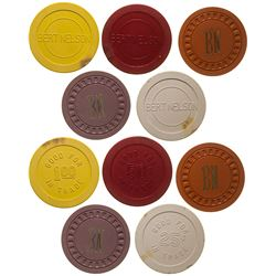 Bert and Nelson Gaming Chip Token Collection (Glasgow, Montana)