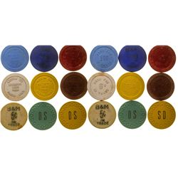 """Small """"H"""" Town Gaming Chip Token Collection"""