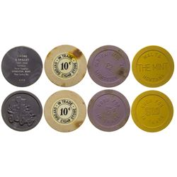 Lewistown, Livingston, and Malta Gaming Chip Token Collection