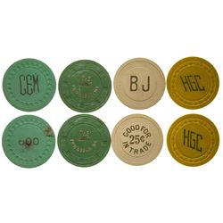 Townsend and Unknown MT Gaming Chip Tokens