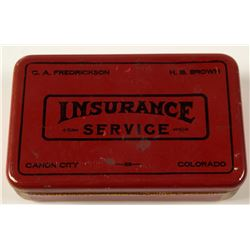 Vintage Canon City Insurance First Aid Tin