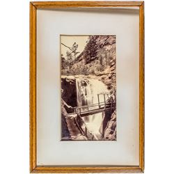 Framed Early Photo of Cheyenne Canon, Colorado
