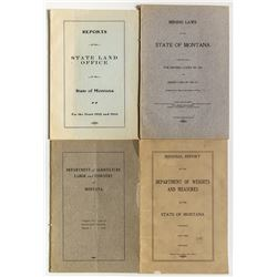 Montana Mining Related Booklets