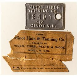 Minot Hide & Tanning Co. Tag (North Dakota)