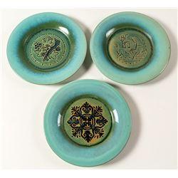 Vintage Romany Tile Plates