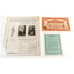 Texas Oil Broadside and Certificates