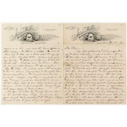 Spokane Falls, Washington Territory Letter (1890)