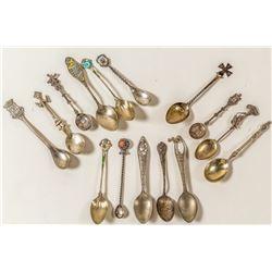 15 Small Souvenir Silver Spoons