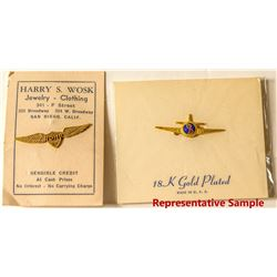 Aviation Collectibles: Pins & Aircraft Employee Wings (c.1940s-50s)