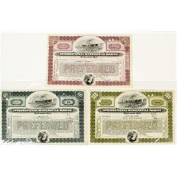 International Mercantile Marine Corp. (owner of Titanic) Stock Certificates