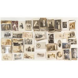 About 250 Portrait Real Photo Postcards (RPPC)