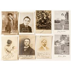 """""""Autographed"""" Real Photo Postcards"""