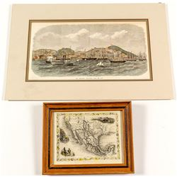 Gold Rush Map and Lithograph