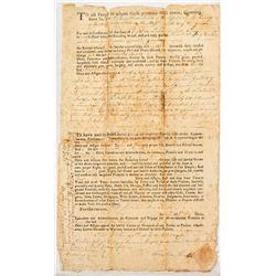 Will Settlement (1780)