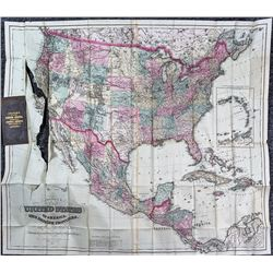 Colton's Pocket Map of North America (1874)