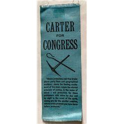 Rare Carter for Congress Ribbon