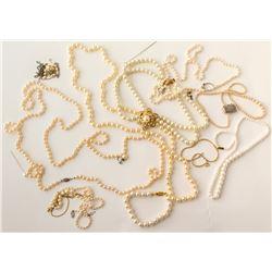 Silk Box of Pearl Jewelry