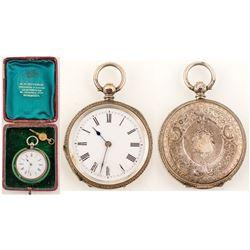 A. H. Hutchin Silver Pocket Watch