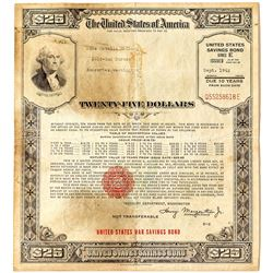 US WWII Savings Bond