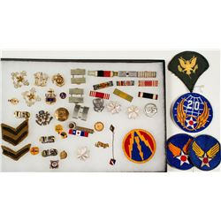 Various Military Pins and Badges
