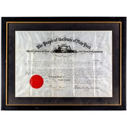 New York National Guard Certificate (1860s)