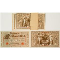 Packet of Twenty 1000 Mark Bills