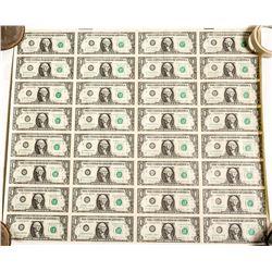Uncut Currency Sheet