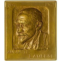 Auguste Lameere Bronze Coin