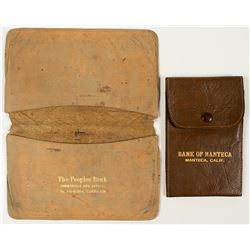 Vintage Leather California Check Holders