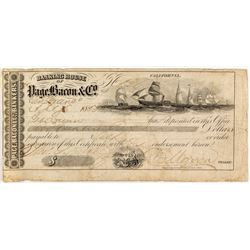 Gold Rush Bank Deposit to Page Bacon & Co.