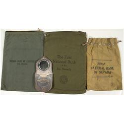Vintage Cloth Nevada Bank Money Bags