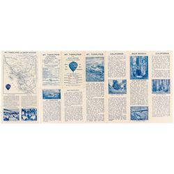 Brochure for Mt. Tamalpais and Muir Woods