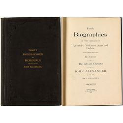 Rare Biographical Work on John Alexander (Published Cripple Creek, 1892)