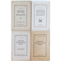 4 Sequential Copies of The Idaho State Historical Society Bulletin