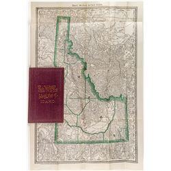 Rand, McNally & Co's Indexed Pocket Map of Idaho c.1881