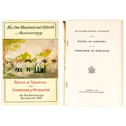 150th Anniversary Battle of Saratoga Book and Program