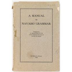 A Manual of Navaho Grammar (1926)