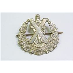 WWII, MILITARY BADGE, CAMERON HIGHLANDERS OF CANADA