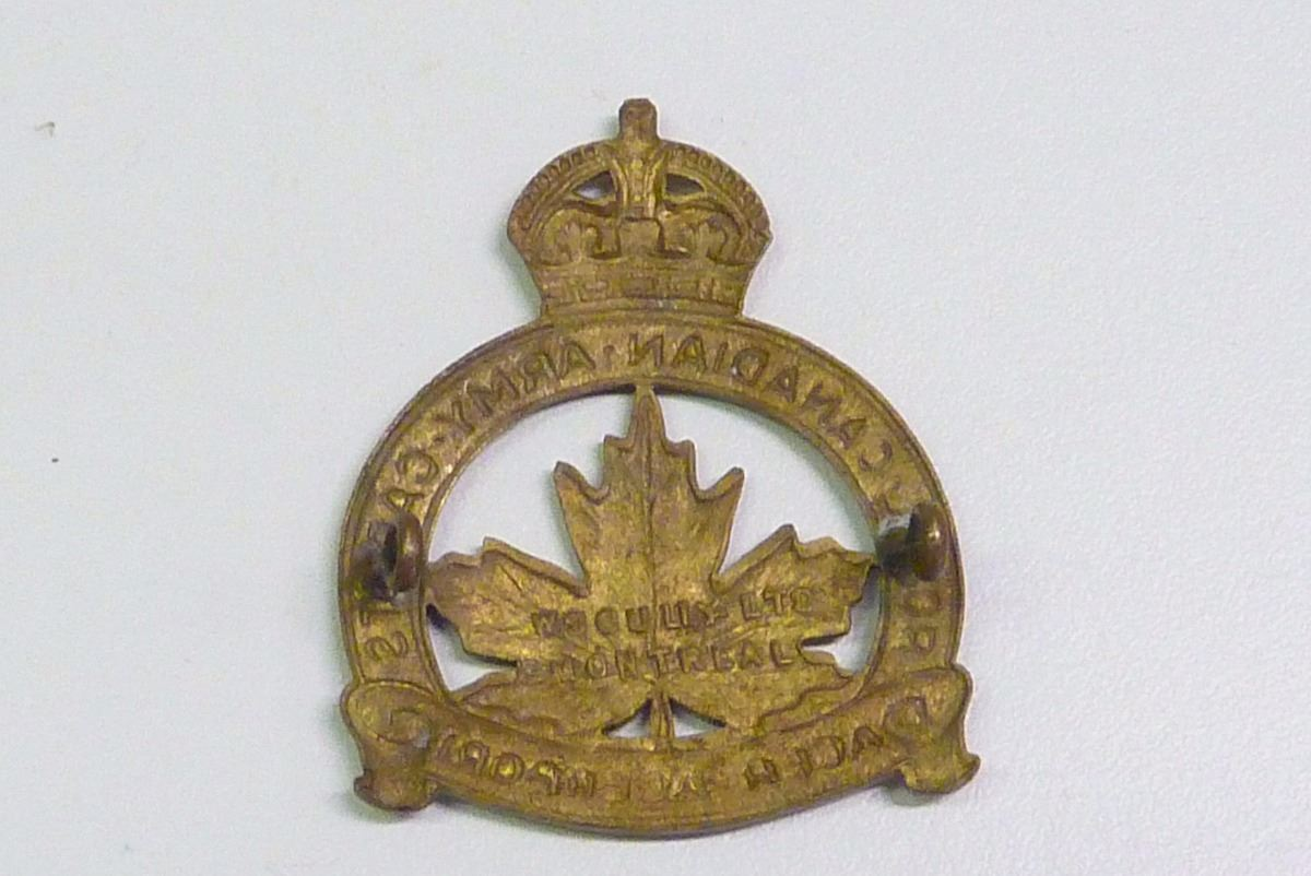 WWII MILITARY CAP BADGE, ROYAL CANADIAN ARMY CADETS
