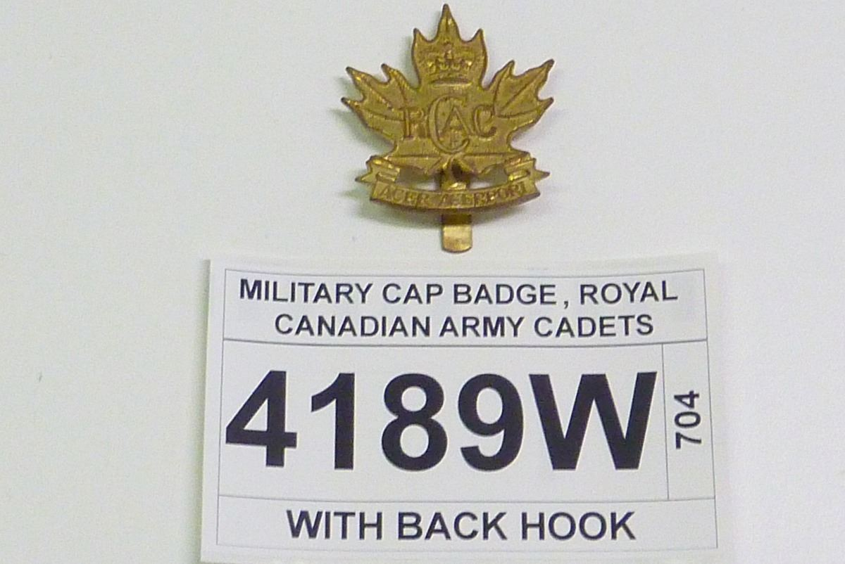 MILITARY CAP BADGE, ROYAL CANADIAN ARMY CADETS