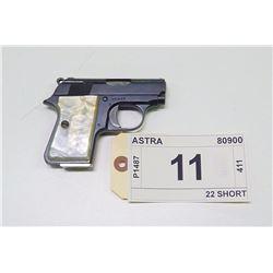ASTRA , MODEL , 2000 CUB , CALIBER , 22 SHORT