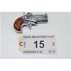 DAVIS INDUSTRIES , MODEL , DERINGER D-22 , CALIBER , 22 LR  , CALIBER , 22 LR