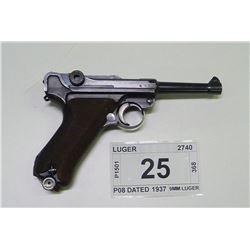 LUGER , MODEL , P08 DATED 1937 , CALIBER , 9MM LUGER