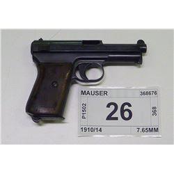 MAUSER , MODEL , 1914 , CALIBER , 7.65MM