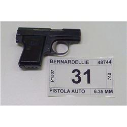 BERNARDELLIE , MODEL , PISTOLA AUTO , CALIBER , 6.35 MM