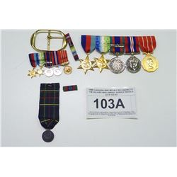 WWII CANADIAN WAR MEDALS BELONGING TO THE SOLDIER WHO OWNED  SERVICE PISTOLS LOTS 102/103